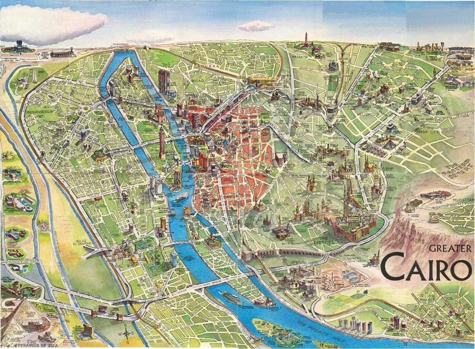 Cartina Turistica Egitto.Mappa Turistica Di Il Cairo Egitto Mappa Turistica Di Il Cairo Egitto Egitto