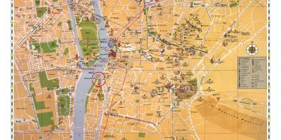 Cartina Turistica Egitto.Cairo Mappa Turistica Attrazioni Del Cairo Mappa Egitto